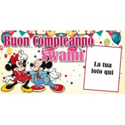 Striscione Minnie e Topolino