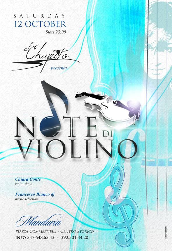 Flyer Note di Violino Chupito