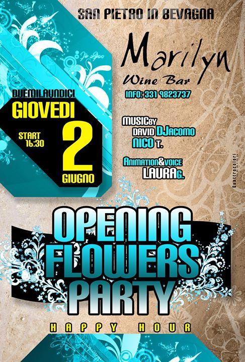 flyers flower party marilyn