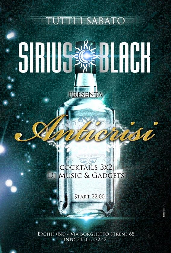 Locandina Anticrisi Sirius Black
