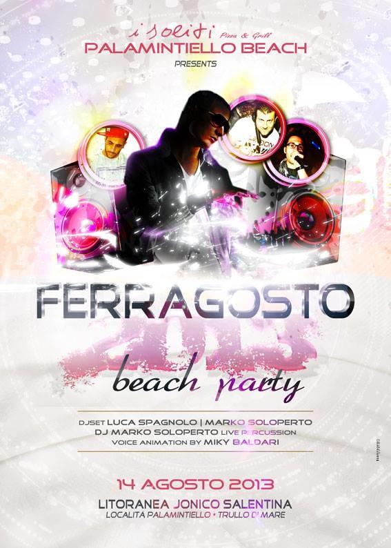 Locandina Ferragosto Palamintiello Beach