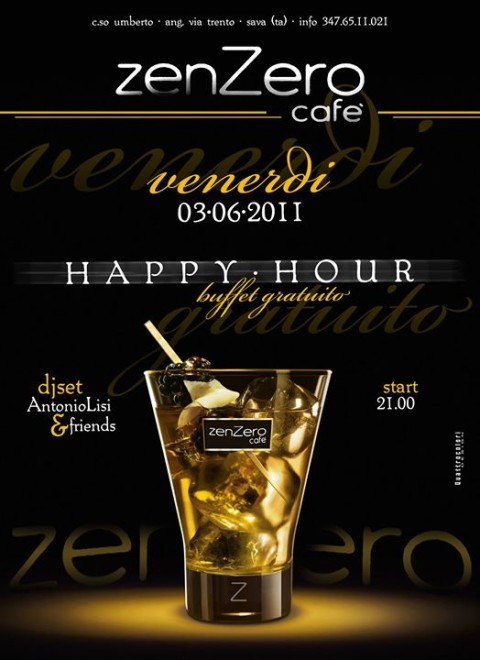 locandina happy hour zenzero